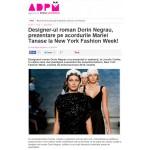 Designer-ul roman Dorin Negrau, prezentare pe acordurile Mariei Tanase la New York Fashion Week!