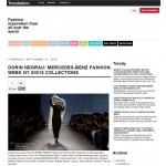 DORIN NEGRAU: MERCEDES-BENZ FASHION WEEK NY S/S15 COLLECTIONS